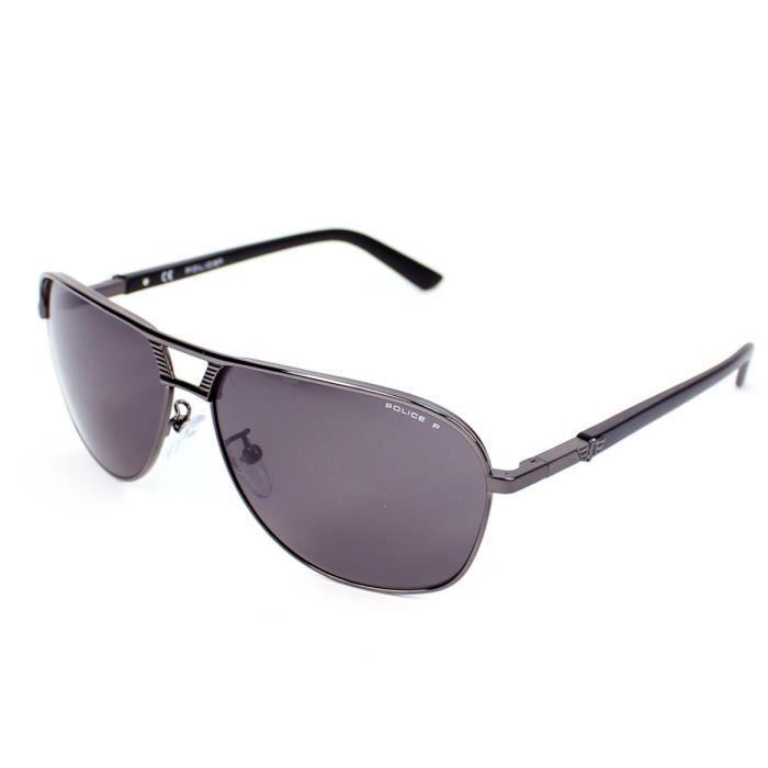 lunettes de soleil police s8849 gunmetal noir noir achat vente lunettes de soleil homme. Black Bedroom Furniture Sets. Home Design Ideas