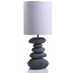 lampe galets c ramique ovale gris fonc l achat. Black Bedroom Furniture Sets. Home Design Ideas