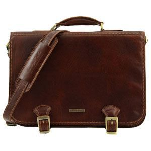 BESACE - SAC REPORTER Tuscany Leather - Serviette cuir - Marron - Homme
