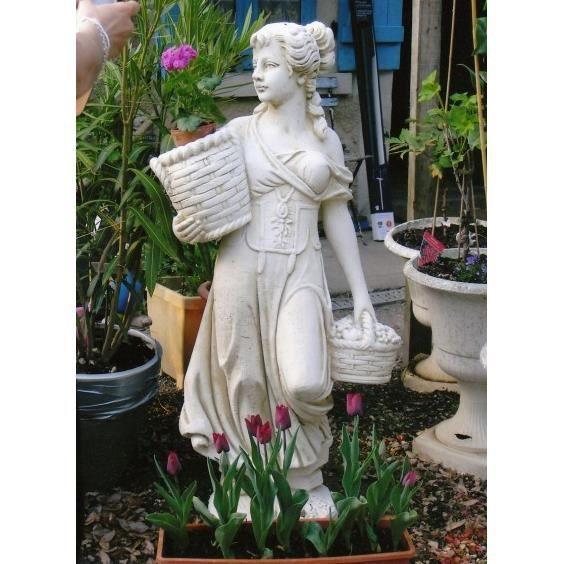 statue jeune fille aux paniers achat vente statue statuette statue jeune fille aux pani. Black Bedroom Furniture Sets. Home Design Ideas