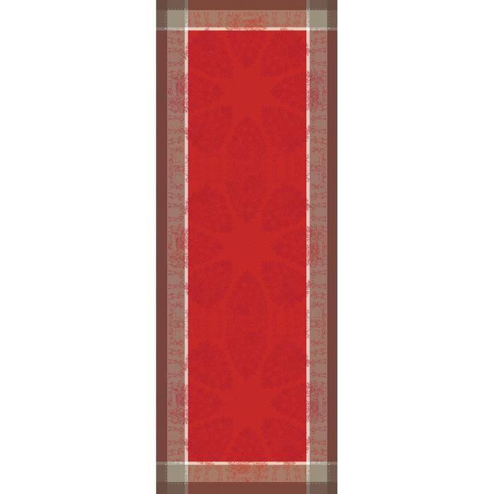 Chemin de table mon beau sapin rouge 55x150 achat for Chemin de table beige