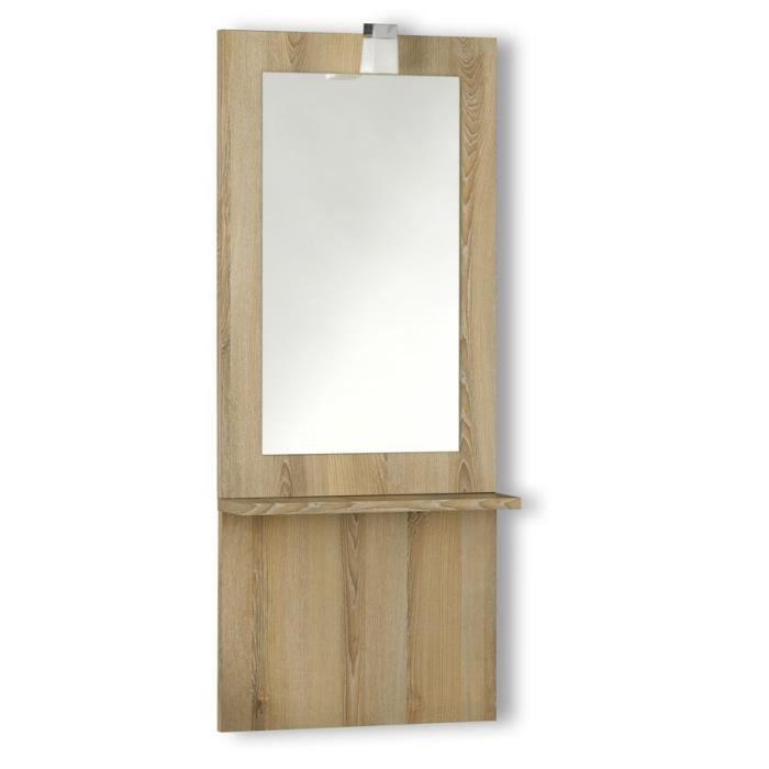 Miroir avec cr dence tag re julia 2 largeurs achat for O miroir la rochelle