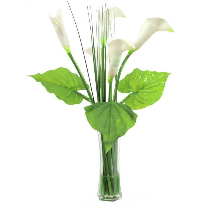 europalms 61221 plante de d coration calla verre vert 64 cm 82502100 achat vente fleur. Black Bedroom Furniture Sets. Home Design Ideas