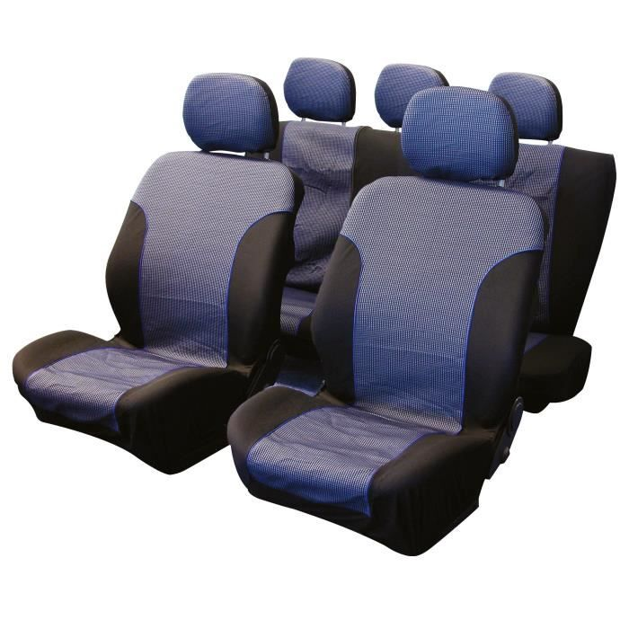 jeu de couvre sieges 9pcs sky compatible airbag achat. Black Bedroom Furniture Sets. Home Design Ideas