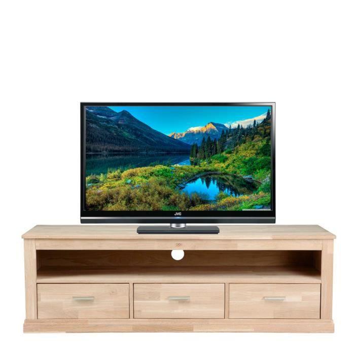 meuble tv 3 tiroirs katrien couleur ch ne achat vente meuble tv meuble tv 3 tiroirs katrien. Black Bedroom Furniture Sets. Home Design Ideas