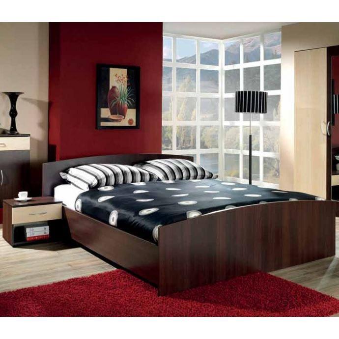 lit 2 personnes assorti au chevet et armoire de achat vente structure de lit lit 2. Black Bedroom Furniture Sets. Home Design Ideas