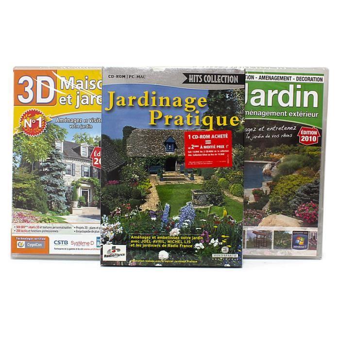 Pack 3 logiciels am nagement maison et jardin achat for Logiciel simulation amenagement jardin