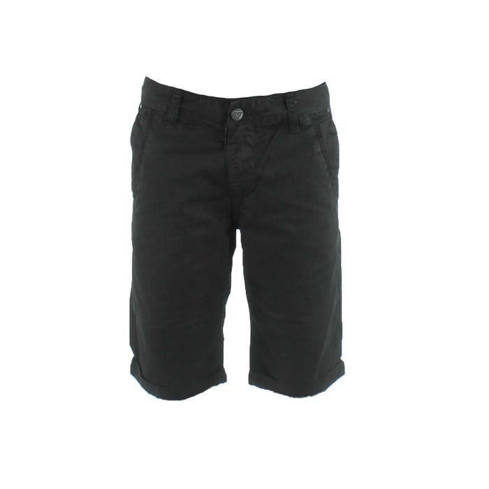 bermuda homme en coton noir noir achat vente bermuda bermuda homme en coton cdiscount. Black Bedroom Furniture Sets. Home Design Ideas