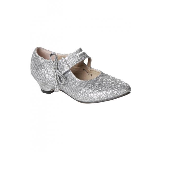 chaussure fille pour mariage d cor original petit talon coloris argent argent achat vente. Black Bedroom Furniture Sets. Home Design Ideas