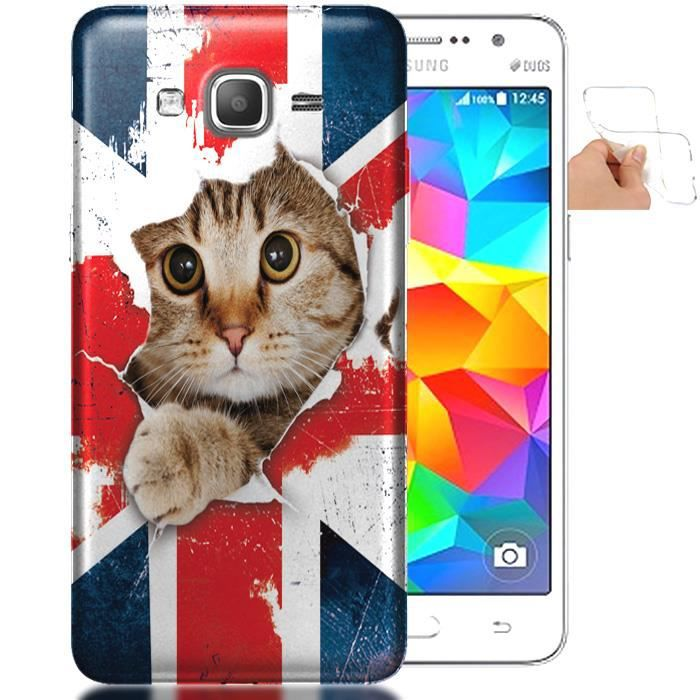 Housse silicone samsung galaxy grand prime chat anglais for Housse en anglais
