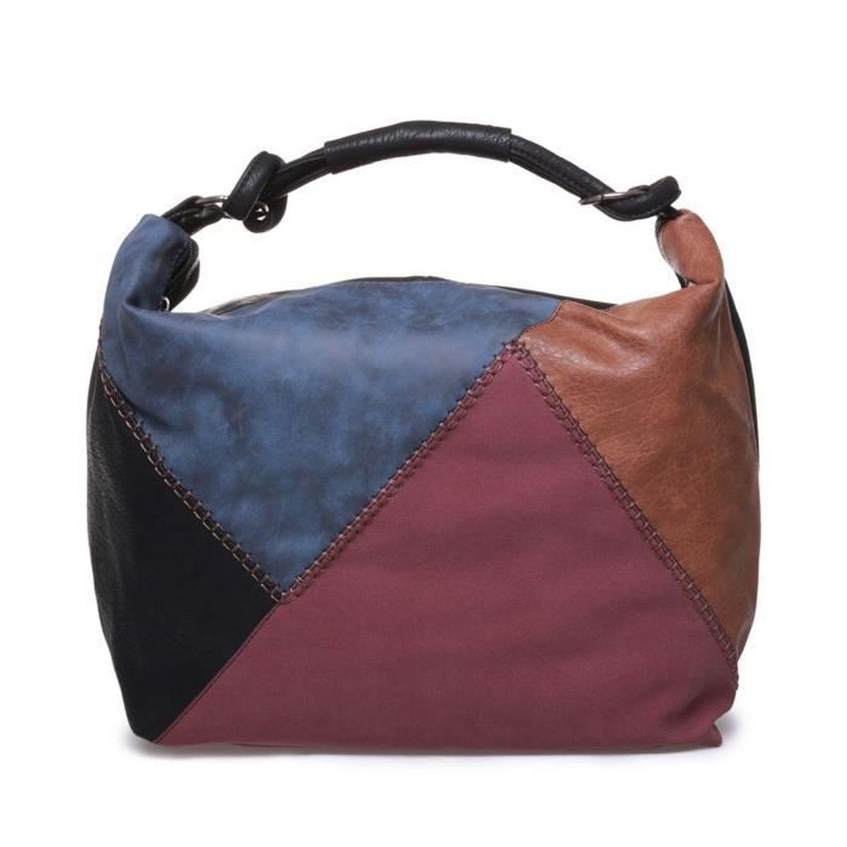 la modeuse sac cabas souple aspect cuir femme u noir achat vente sac shopping. Black Bedroom Furniture Sets. Home Design Ideas