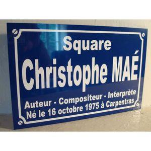 OBJET DÉCORATION MURALE Christophe MAE objet collector pour fan - PLAQUE D