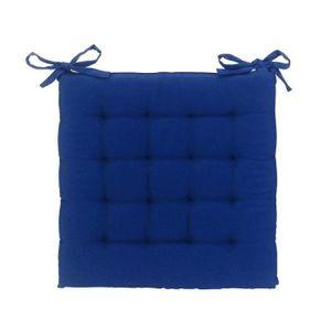 galette de chaise bleue