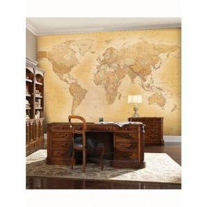 papier peint carte du monde achat vente papier peint carte du monde pas cher cdiscount. Black Bedroom Furniture Sets. Home Design Ideas