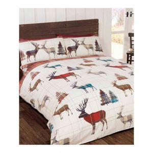 housse de couette pere noel achat vente housse de. Black Bedroom Furniture Sets. Home Design Ideas