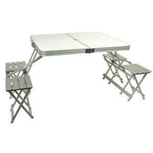 Table pliante avec banc achat vente table pliante avec for Table camping valise