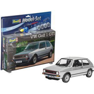 VOITURE À CONSTRUIRE REVELL Model Set VW Golf 1 GTI Maquette à Construi
