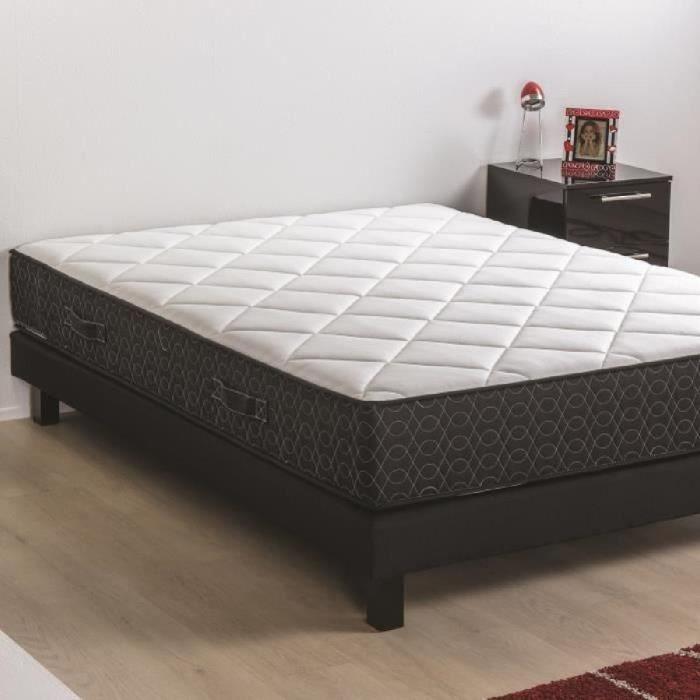 deko dream ensemble matelas sommier en bois massif 140 x 190 mousse polyur thane 30kg m3. Black Bedroom Furniture Sets. Home Design Ideas
