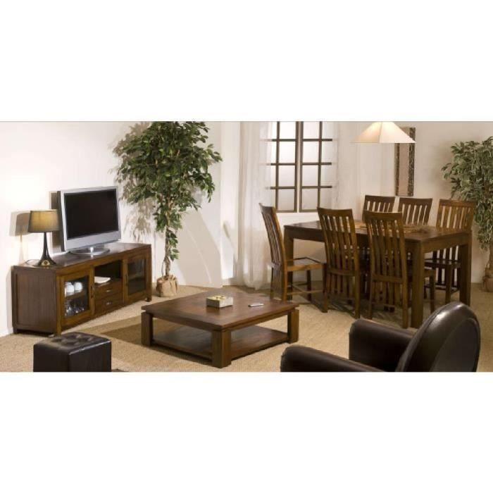 Madrid meuble tv 150 cm bois exotique achat vente meuble tv madrid meuble - Meubles en bois exotique ...