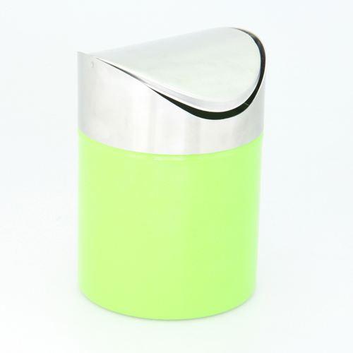 Poubelle de salle de bain inox vert achat vente - Poubelle salle de bain design ...
