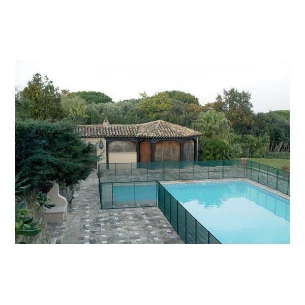 Barriere de piscine beethoven prestige vert avec piquets for Barriere de piscine