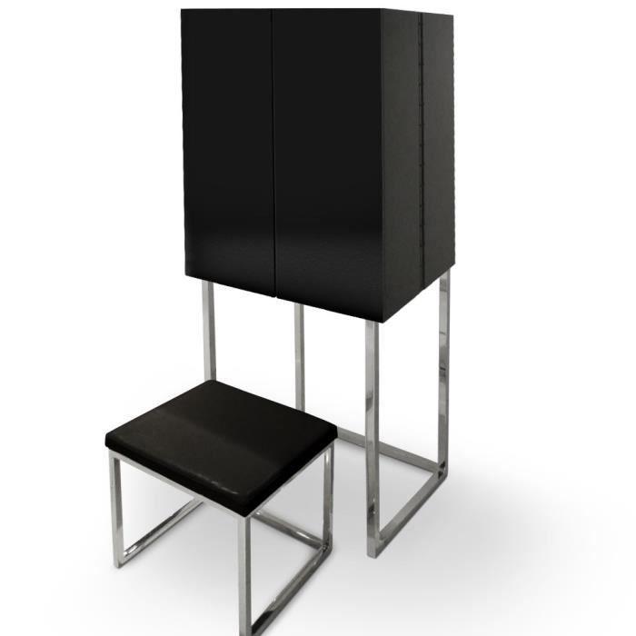 meuble coiffeuse noir maison design. Black Bedroom Furniture Sets. Home Design Ideas