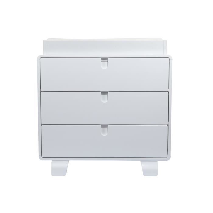 Commode r tro coloris blanc achat vente commode b b 4895165304720 cdis - Commode bebe cdiscount ...