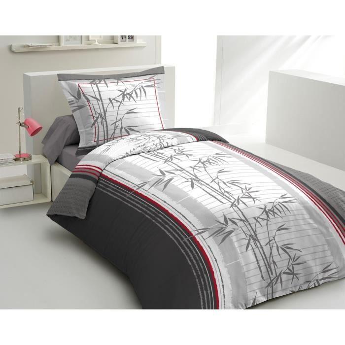 lovely home parure de couette lucky bambou 1 housse de couette 140x200 cm 1 taie 65x65 cm. Black Bedroom Furniture Sets. Home Design Ideas