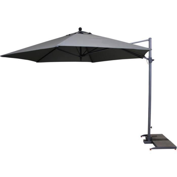 parasol d port hexagonal diam tre 3 5m noir achat. Black Bedroom Furniture Sets. Home Design Ideas