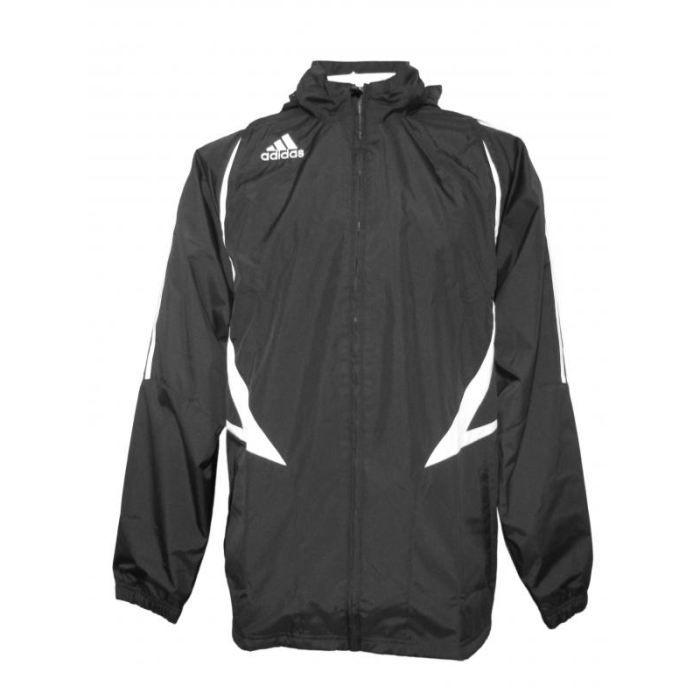 foot veste coupe vent pluie adidas noir achat vente veste de sport soldes d hiver d s le. Black Bedroom Furniture Sets. Home Design Ideas