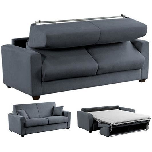 canap convertible lit 120x190 memory microfibre achat vente canap sofa divan cdiscount. Black Bedroom Furniture Sets. Home Design Ideas