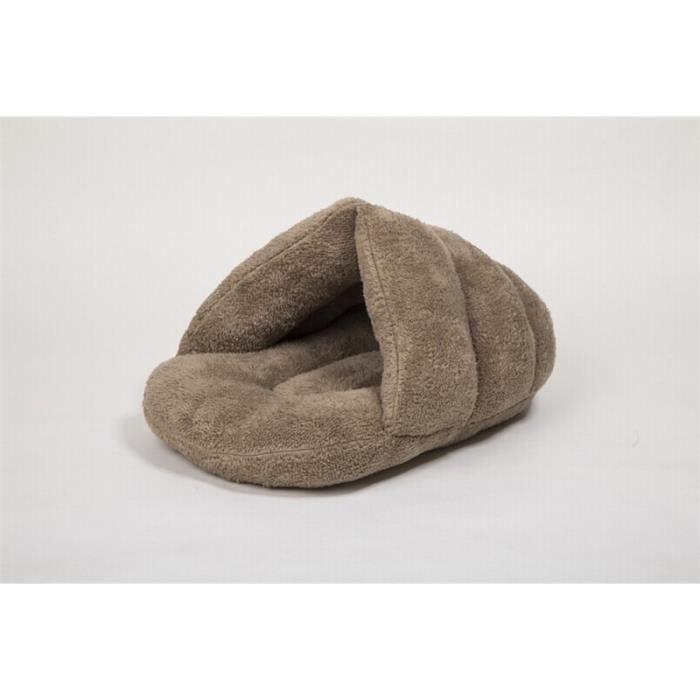 lit sac en coton de couchage pour chat taille l brun clair achat vente nichoir nid lit. Black Bedroom Furniture Sets. Home Design Ideas
