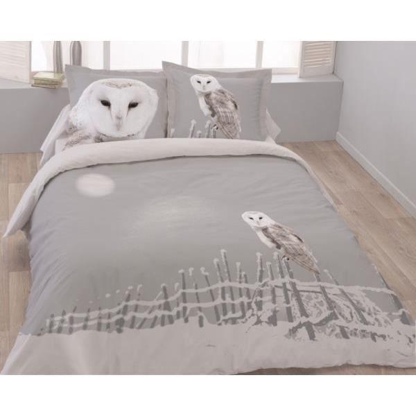 housse de couette 240x260cm 2 taies d oreiller 65x65 cm chouette dv achat. Black Bedroom Furniture Sets. Home Design Ideas