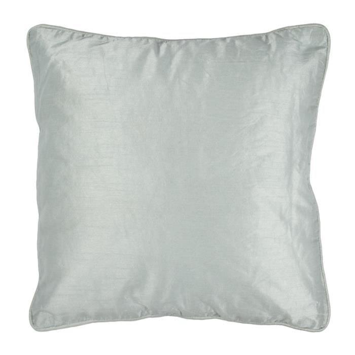 solene coussin 38x38 bleu gris soie pes monbe achat. Black Bedroom Furniture Sets. Home Design Ideas