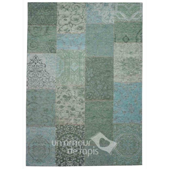 tapis kilim patchwork ethnic antika 1 turquoise 120x170 par dezenco tapis moderne achat. Black Bedroom Furniture Sets. Home Design Ideas