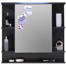 armoire murale salle de bain avec tablette et miroir achat vente armoire de toilette armoire. Black Bedroom Furniture Sets. Home Design Ideas