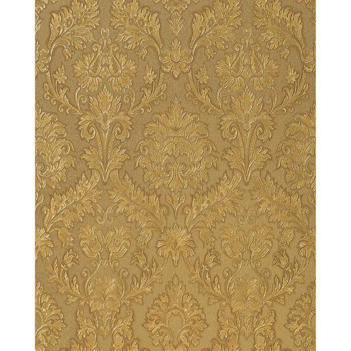 papier peint style baroque edem 708 34 noisette ombrage. Black Bedroom Furniture Sets. Home Design Ideas
