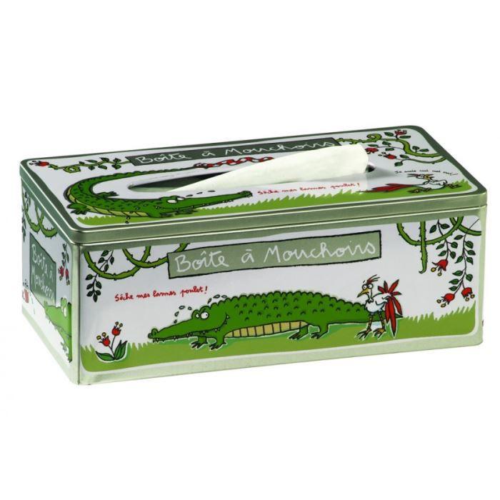 Bo te mouchoirs crocodile dlp achat vente boite de rangement m tal cdiscount - Boite de mouchoirs personnalises ...