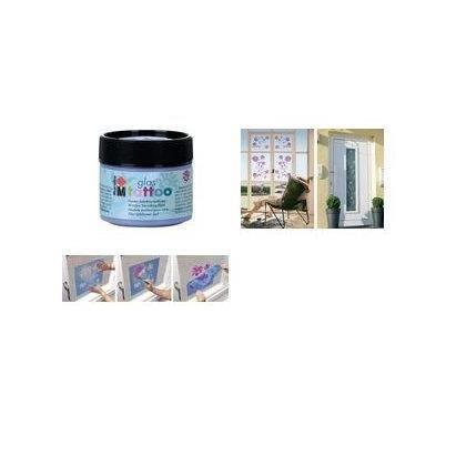 Peinture pochoir pour vitres glastattoo framboi achat vente - Peinture pour pochoir ...