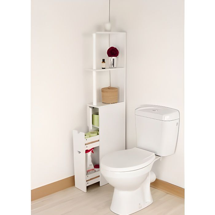 Meuble de rangement toilettes ou salle de bains achat - Rangement salle de bain ...