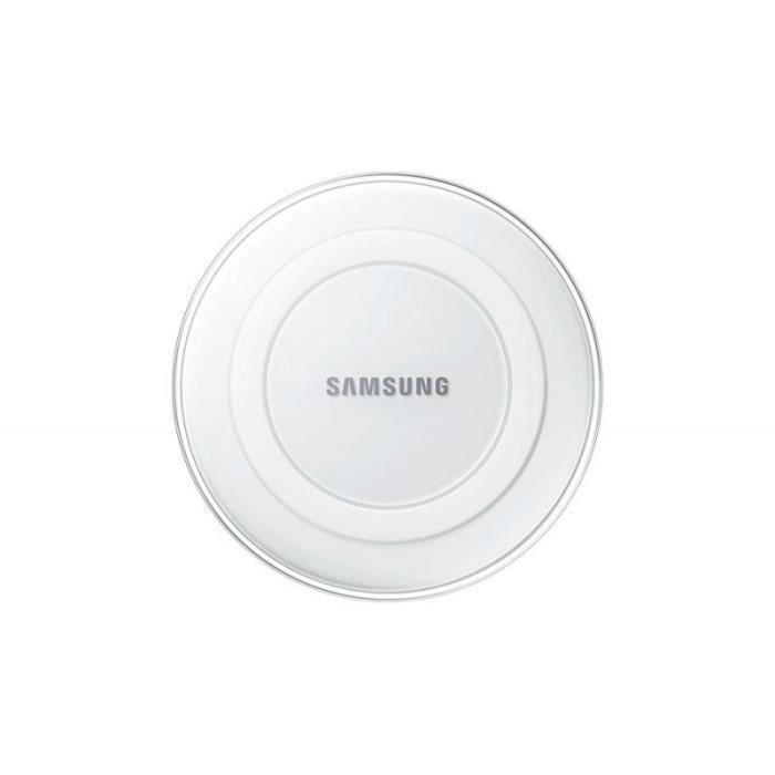 plateau de charge induction samsung blanc pour galaxy s6 edge achat chargeur t l phone pas. Black Bedroom Furniture Sets. Home Design Ideas