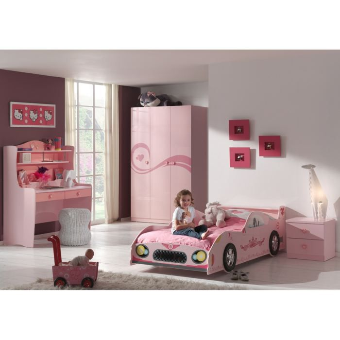 Chambre compl te lit voiture swithome pinky achat - Lit voiture princesse ...