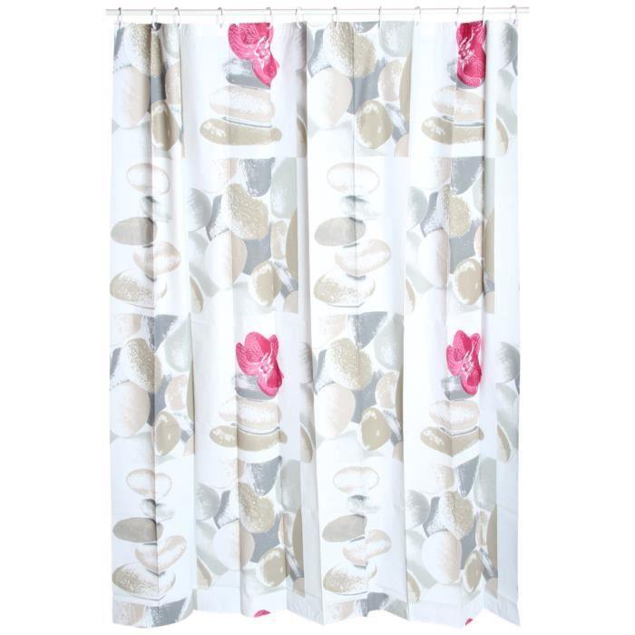 rideau de douche galet orchid e achat vente rideau de douche soldes d hiver d s le 6. Black Bedroom Furniture Sets. Home Design Ideas