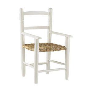 CHAISE Chaise enfant en hêtre laqué blanc avec siège r…