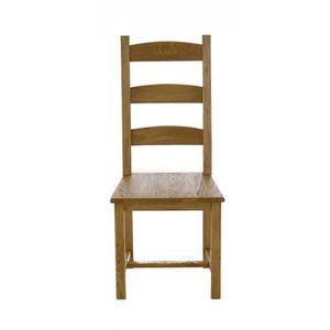 CHAISE 2x Chaise repas chêne Longère - Couleurs des Alpes