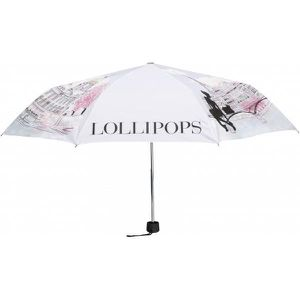 PARAPLUIE Parapluie pliable Lollipops LOLLIBRIDGE Rose Impri