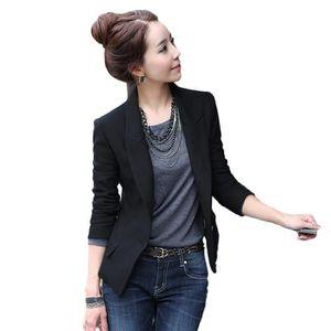 veste tailleur femme noir achat vente veste tailleur femme noir pas cher cdiscount. Black Bedroom Furniture Sets. Home Design Ideas