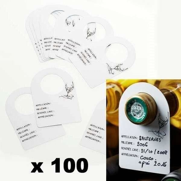etiquettes pour goulot de bouteille de vin x 100 achat. Black Bedroom Furniture Sets. Home Design Ideas