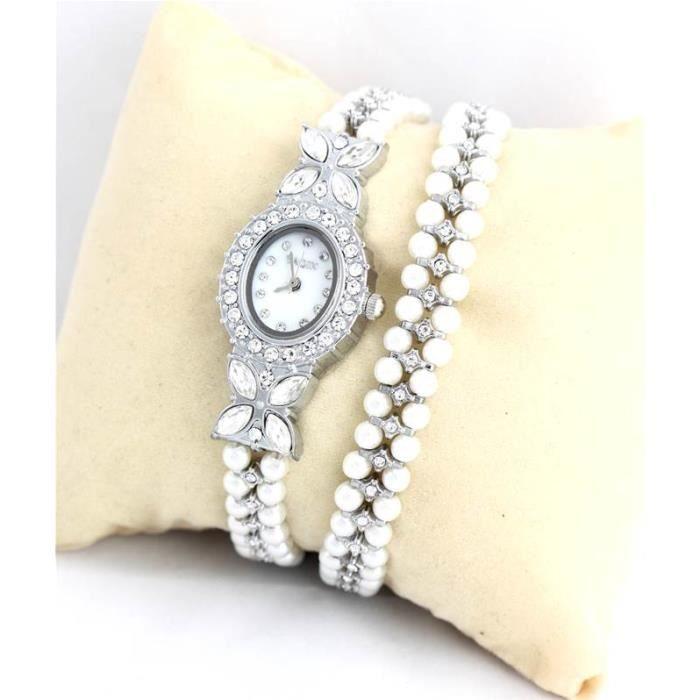 montre femme double bracelet perles 1690 perle achat vente montre cdiscount. Black Bedroom Furniture Sets. Home Design Ideas