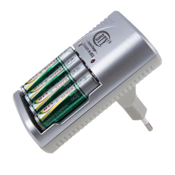 Chargeur de pile rechargeable avec prise 12v compatible - Pile 9v rechargeable ...